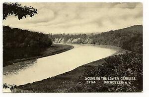 ROCHESTER-NY-Lower-Genesee-River-Vtg-B-amp-W-Postcard