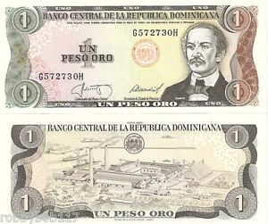 Image Is Loading Dominican Republic 1 Peso Banknote World Paper Money