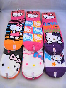 HELLO-KITTY-6-Pair-Set-of-Assorted-Womens-Knit-Anklet-Socks-Great-for-Gifts-NEW