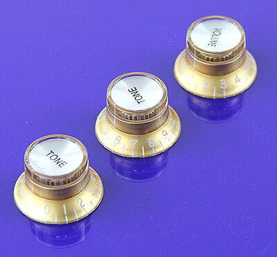 Volume Tone Control Knob Top Hat Speed Control Knobs F Fender Strat Guitar Gold