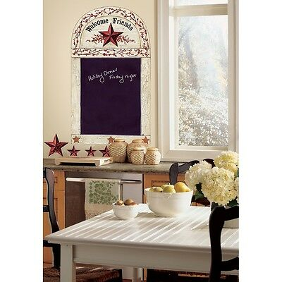 COUNTRY STARS & BERRIES CHALKBOARD WALL DECALS RoomMates Stickers Kitchen Decor