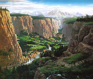 Rivendell-Tolkien-themed-print-numbered-signed-by-Ted-Nasmith