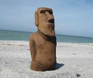 Image Is Loading Authentic Easter Island Moai Statue 034 Garden Tiki