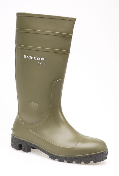 Hommes Dunlop Vert Embout Acier Sécurité Bottes Caoutchouc Bottes Taille 3-13