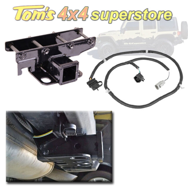 11580.51-Rugged Ridge Hitch Kit Jeep JK Wrangler, Including Wiring Harness 07-12
