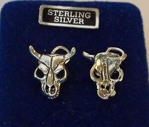 1-Sterling-Silver-13x18mm-Southwest-Steer-Cow-Bull-Skull-Charm