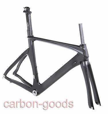 3K Glossy Full Carbon Triathlon/TimeTrial/TT Road Bike frameset/frame+fork 52CM