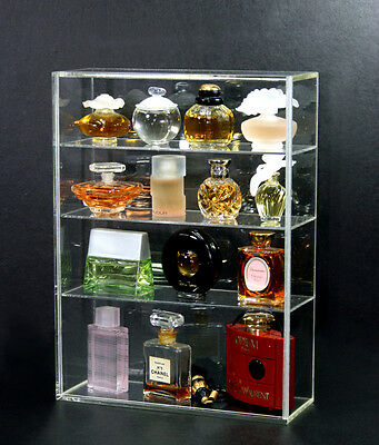 2 pc High Gloss Acrylic Display box sliding door MINI Perfume bottle collectible