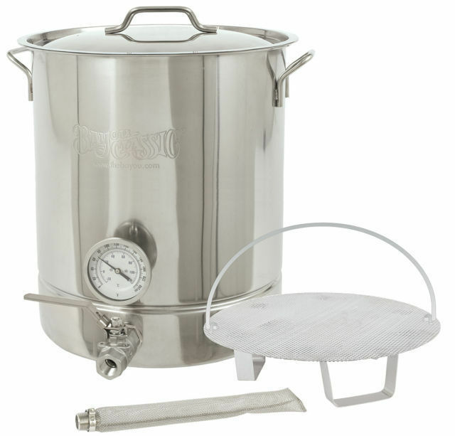 Bayou Classic 800-410 Homebrew Beer Wine Stainless 10 Gallon Brew Kettle Set