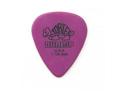 Jim Dunlop Guitar Tortex Picks 1.14 mm Purple Picks 72 Pack Standard 418R114