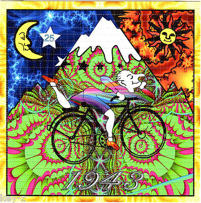 Hofmann Fractal Bike Ride   -  BLOTTER ART perforated psychedelic