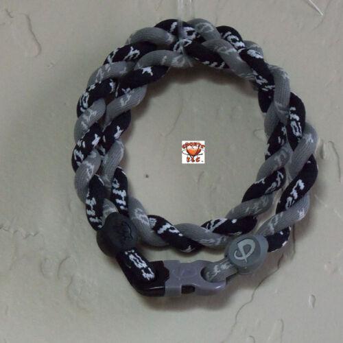 Phiten Tornado Necklace Custom: Gray with Black