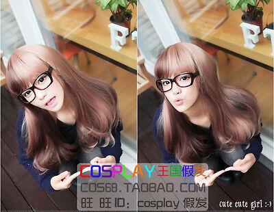 Harajuku Department Lolita fashion gradual change Long Straight Cosplay Wig