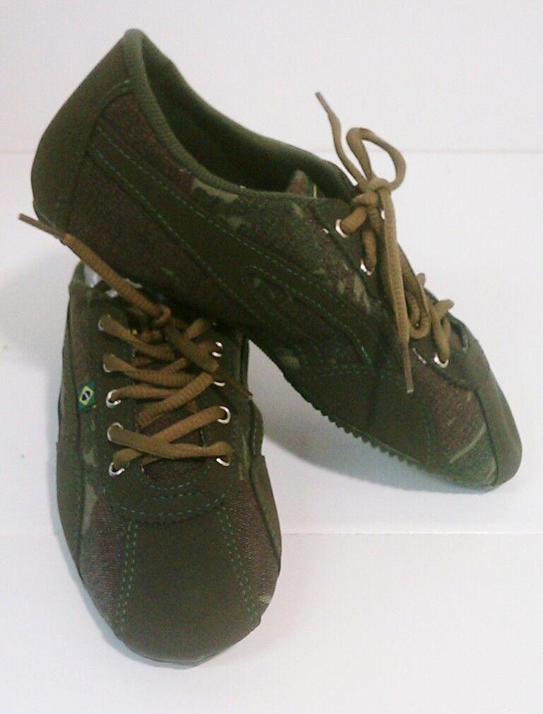 Taygra Brasil Estilo Militar verde Oscuro Entallado Zapatillas Flexible & Claro