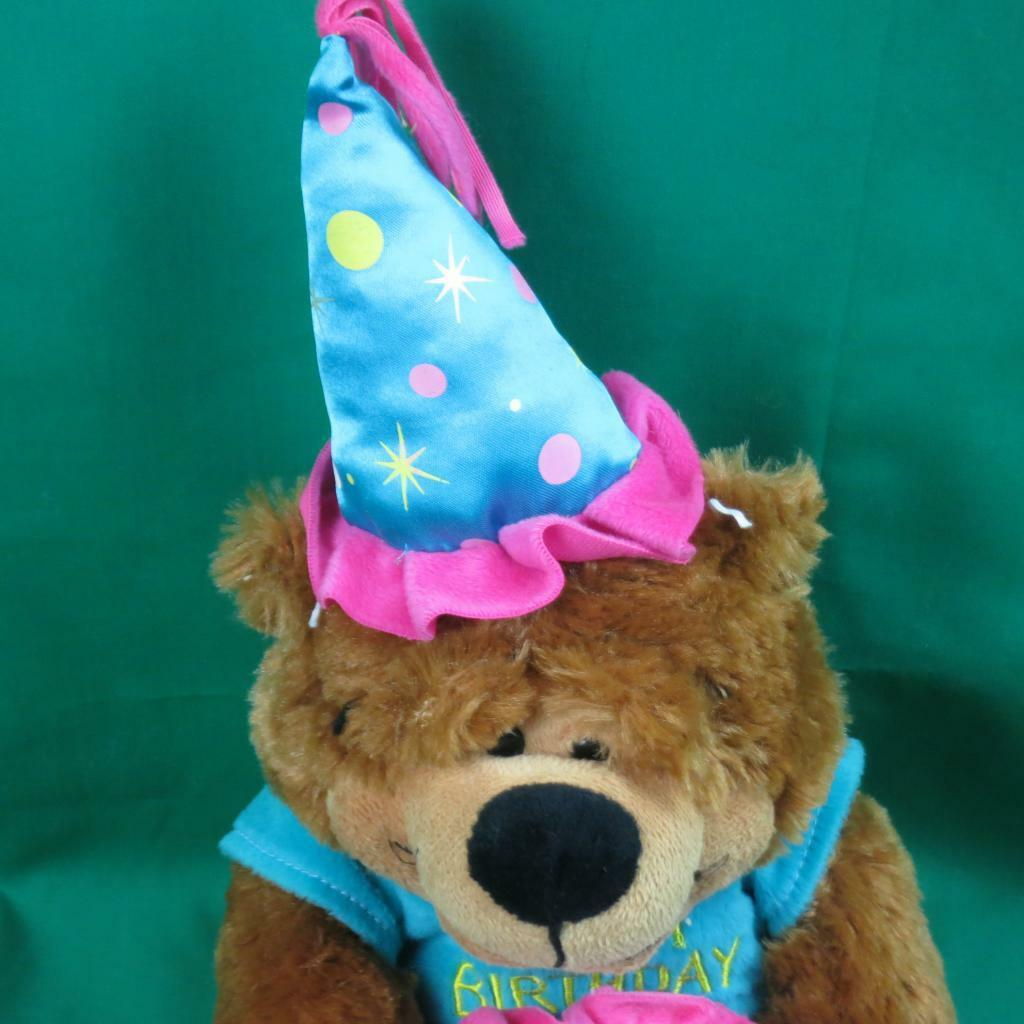 BURTON HAPPY PARTY BIRTHDAY CAKE TEDDY BROWN BEAR HAT T SHIRT PLUSH
