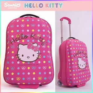 Hello-Kitty-Travel-Rolling-Luggage-Trolley-Bag-18-034-Hard-Suit-Case-Pink-Sanrio
