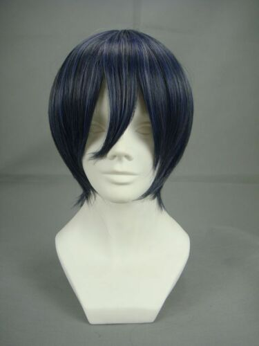 BLACK BUTLER KUROSHITSUJI Ciel Phantomhive cosplay costume wig. UK SELLER