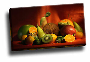 Image Is Loading Big Collection Of Fruit Giclee Canvas Kitchen Dining