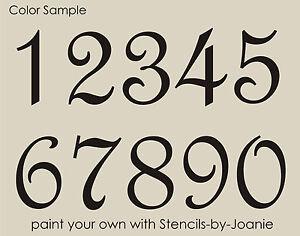 Stencil Paris French Script Numbers Bride Lake House