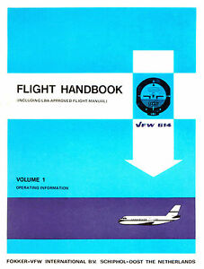 FOKKER-VFW-614-FLIGHT-HANDBOOK-VOLUME-1-1974-2-BROCHURES-1972-amp-1976