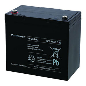 2 x yuasa yu power 12v 55ah as 50ah 60ah golf buggy batteries ebay. Black Bedroom Furniture Sets. Home Design Ideas