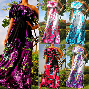 NEW-Evening-One-Shoulder-Women-Maxi-Long-Dress-Size-M-XXXL-6-22-Plus-Sz-US