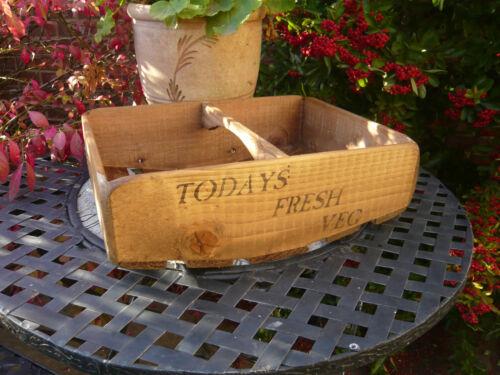 (NEW)Farmhouse Vegetable Basket ~ Trug/Box/Rack/Fruit and Veg ~ Old Rustic Charm