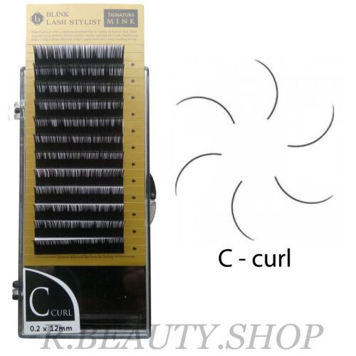 Blink Mink Tray Lash J curl, B curl, C curl, D curl  -  Eyelash Extension