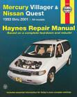 Mercury Villager and Nissan Quest Automotive Repair Manual: 1993 to 2001 by J. H. Haynes, Jeff Kibler (Paperback, 2002)