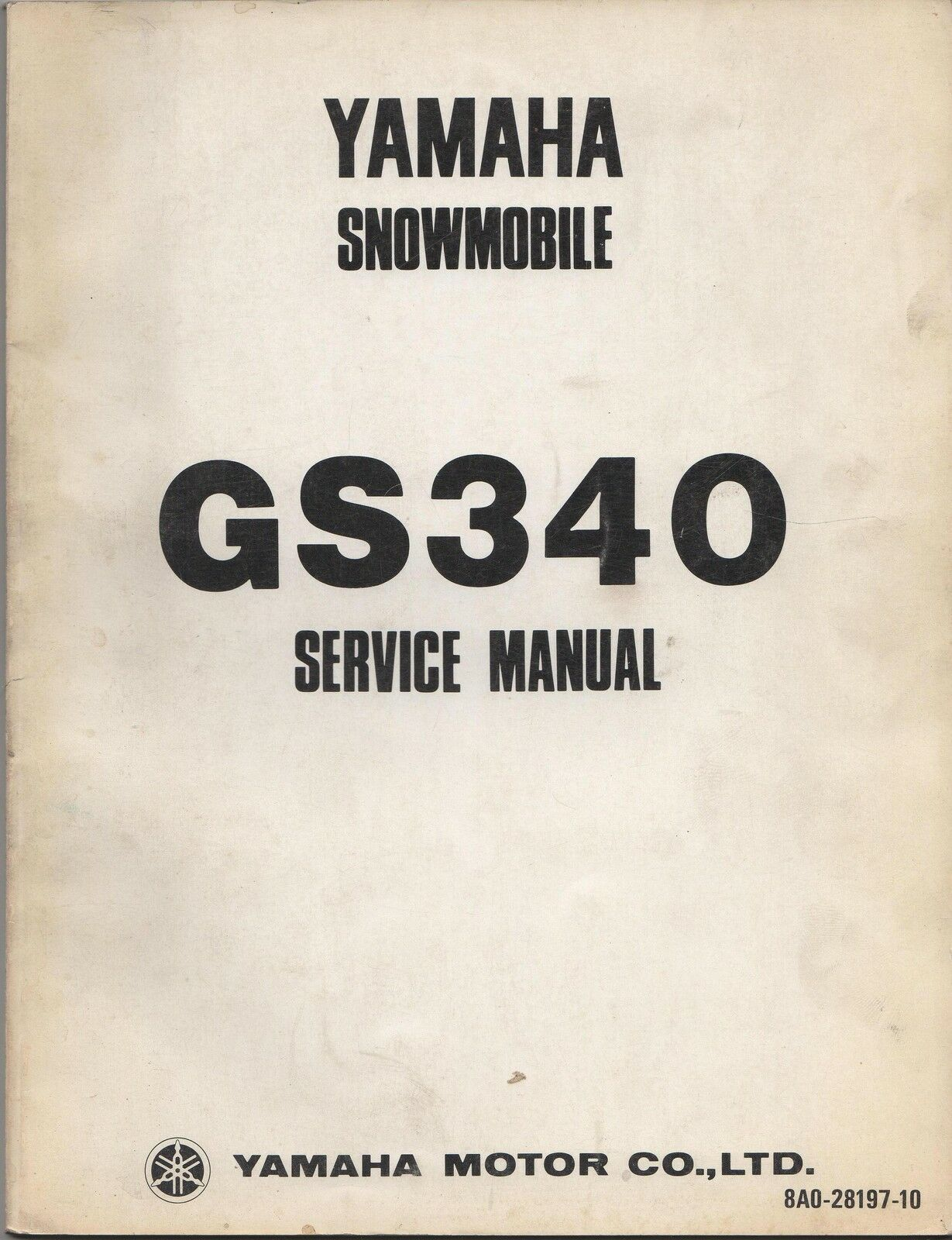1976 YAMAHA SNOWMOBILE GS340 SERVICE MANUAL