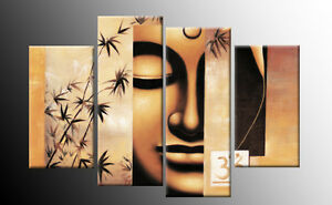 Large-Buddha-Painting-Canvas-Picture-Split-Multi-Four-Panel-Spa-ready-to-hang