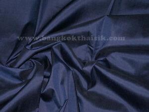 Dark-Blue-100-Silks-Dupioni-Fabric-BTY-Costume-Dress-Drape-Kimono-Blouse-Shirt