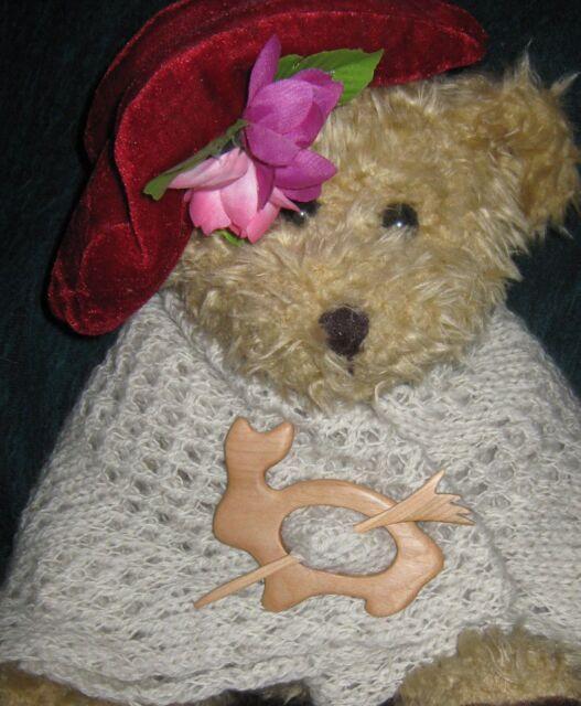 Harvey Brook Handturned Custom Made Bunny Shawl pin/Sale