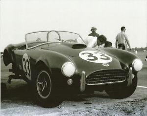 Vintage-8-X10-1963-Pensacola-USRRC-B-Johnson-Cobra-in-Paddock-Auto-Racing-Photo