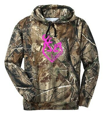 Love Camo Hoodie Country Girl Buck Pink Deer Cowgirl Outdoor Hunt Sports X - 3XL