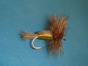 1 dozen Red Humpy Dry Fly #16 Fly Trout Fishing Flies NIB