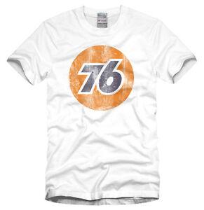 76 Vintage Logo T Shirt Distressed Style Nascar Auto
