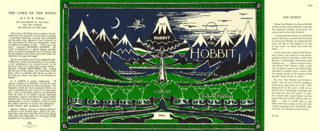 Tolkien-THE HOBBIT facsimile dust jacket for 1966 book