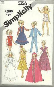 Vintage Simplicity 5356 Barbie Pattern/Uncut