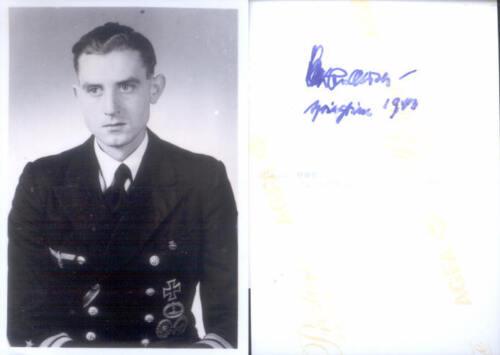 WWII WW2 U Boat Commander Andersen hand signed Photo