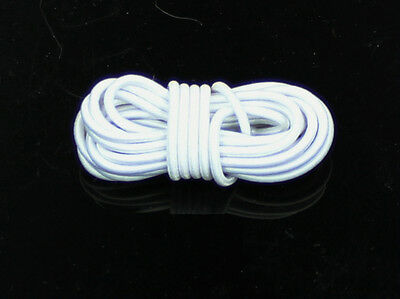 2 Yards White 3 mm Round Elastic Cord for 1/4  MSD Ball Jointed Doll BJD