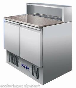 PS900-Refrigerated-Pizza-Sandwich-Prep-Counter-With-Granite-Top-Free-Delivery