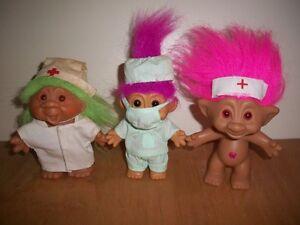 VINTAGE TROLL 3 RUSS DAM ACE DOCTOR NURSES HOSPITAL TREASURE PICS IN DISCRIPTION