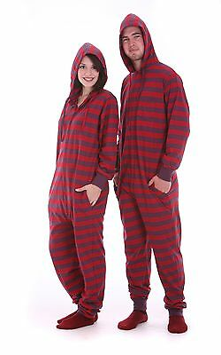 Adult onesie pajama set. One piece non footed pajamas play suit for men or women