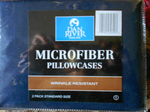 /'DAN RIVER/'  MICROFIBER PILLOW CASES 2 Pillow Cases in 1 Pack