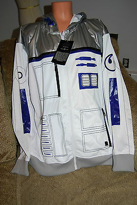 New Men's Star Wars Limited Edition Ecko R2-D2 R2-Bot-D2-IT Track Jacket Hoody M