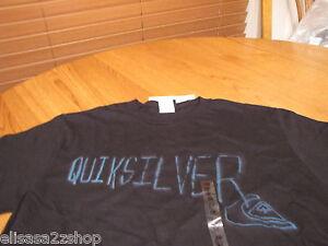 Men-039-s-Quiksilver-T-shirt-accelerator-MTO-black-TEE-MT2736-logo-surf-skate-NEW-M
