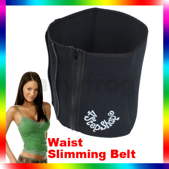 4 Steps Slimming Trimming Girdle Slim Trim Waist Belt Sauna Sweat Tummy Belt