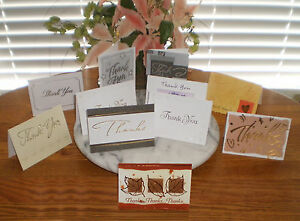 ONE-1-8-PACK-OF-STYLISH-THANK-YOU-CARDS-8-CARDS-8-ENVELOPS-IMMED-SHIPPING