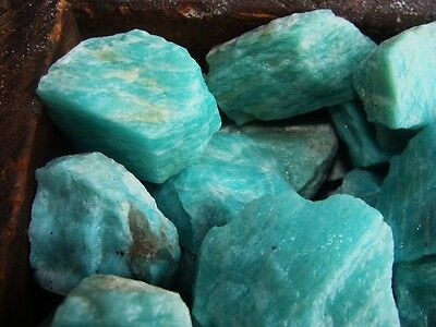 500 Carat Lots of Unsearched Natural Amazonite Rough - Plus a FREE Faceted Gem